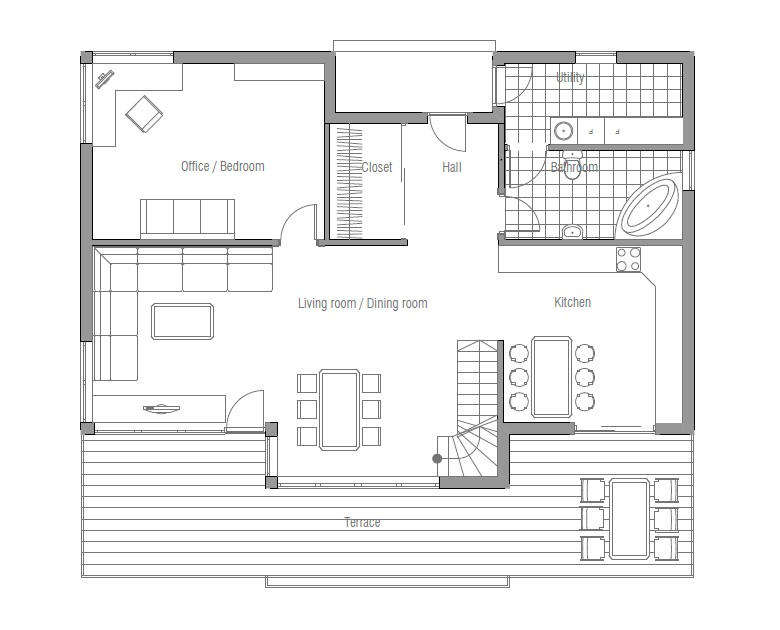 Affordable Home CH91 Floor Plans And Outside Images. House